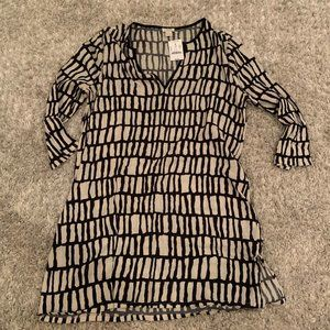 j. crew black and white long sleeve cover up